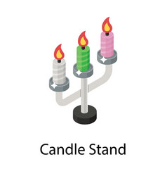 Candle stand vector