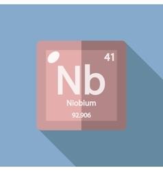 Chemical element Niobium Flat vector image
