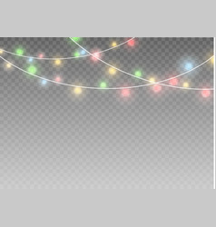 Christmas lights isolated realistic design vector