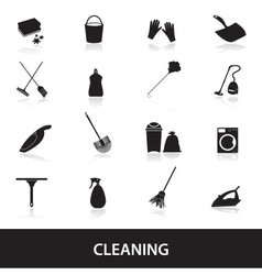 cleaning icons set eps10 vector image