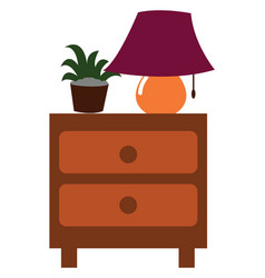 Clipart a nightstand side table with two vector