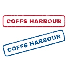 Coffs harbour rubber stamps vector