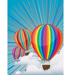 Colorful Hot Air Balloons4 vector image