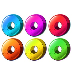 Colourful round object vector image