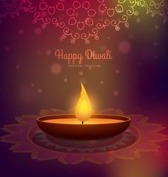 Creative diwali season design background vector