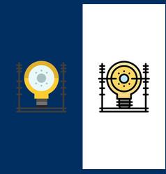 Define energy engineering generation power icons vector