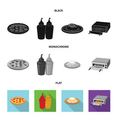 Design of pizza and food sign collection vector