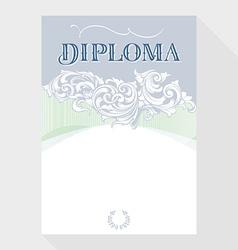 diploma blue grey vector image