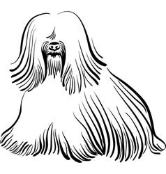 Dog sketch vector