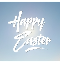 Easter sign - Happy Easter Easter wish overlay vector image