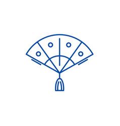 fan line icon concept fan flat symbol vector image