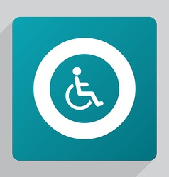 Flat cripple icon vector