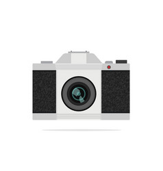 Flat icon of vintage slr-camera vector