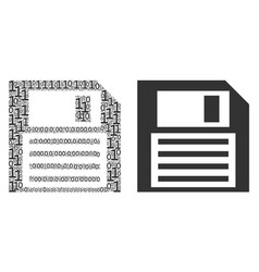 Floppy disk composition of binary digits vector