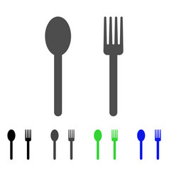 fork and spoon flat icon vector image