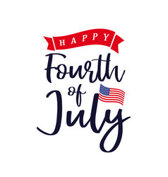 Fourth july independence day usa lettering vector