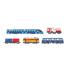 Freight train with wagons tanks cisterns vector