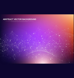 futuristic abstract background blockchain vector image