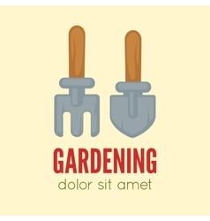 Garden center emblem or label badge logo vector image