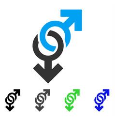 gay symbol flat icon vector image