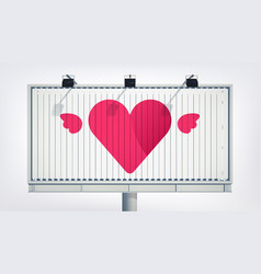 Happy valentines day greeting billboard template vector