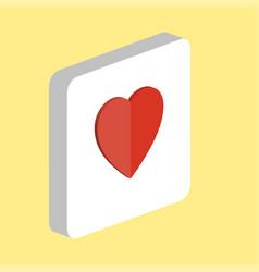 heart computer symbol vector image