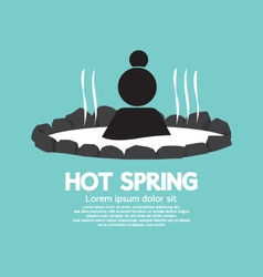 Hot spring Black Symbol vector image