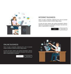 internet and online business vector image
