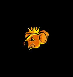 king koala logo vector image