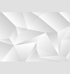 light grey abstract concept polygonal tech vector image