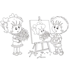 Little painter vector