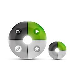 Modern circles design template vector image