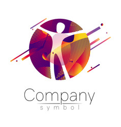 Modern head logo of company brand human in the vector
