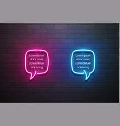 Neon light speech bubble promotion banner price vector