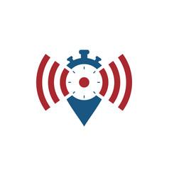 Network alarm icon logo vector