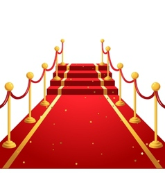 on the red carpet vector image
