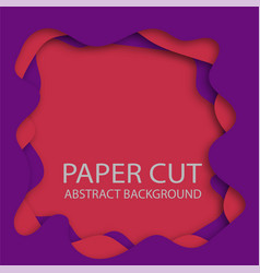 paper cut abstract background 3d with paper cut vector image