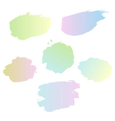 pastel blots set isolated transparent background vector image