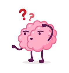 pink brain funny human nervous system organ vector image