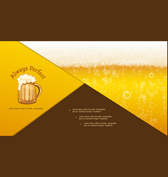 Realistic craft beer composition vector