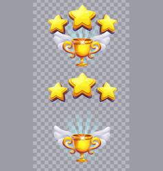 set stars on a transparent background vector image