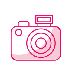 shadow cute camera cartoon vector image