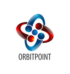 shiny orbit point logo concept design symbol vector image