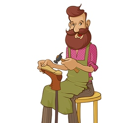 shoemaker vector image