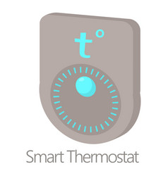 Smart thermostat icon cartoon style vector