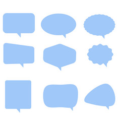 Speech bubble icon on white background flat vector