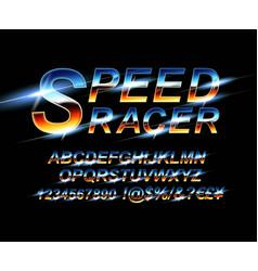 sport font alphabet vector image