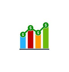 stats money logo icon design vector image