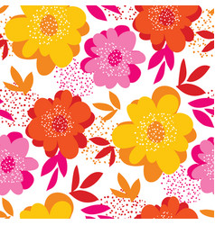 summer vivid color floral seamless pattern vector image