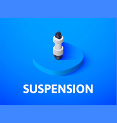 suspension isometric icon isolated on color vector image